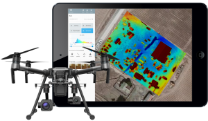 drone and Drone Deploy on tablet